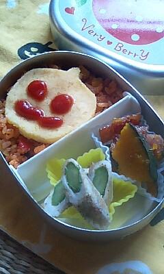 学園祭真っ盛りの頃の幼稚園弁当