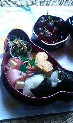 笹巻き(粽)作る頃の幼稚園児のための和風弁当