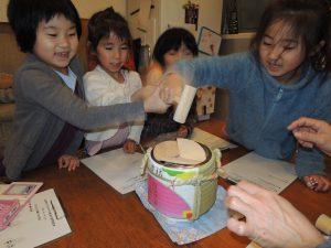 柳の枝に花餅!新春の小学生の食育