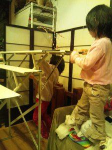 ひな人形飾る頃の幼稚園児のための和風弁当