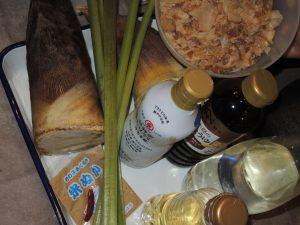 竹の子と蕗料理を作る!春の小学生の食育