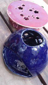 紫陽花咲き始めの頃の陶芸弁当