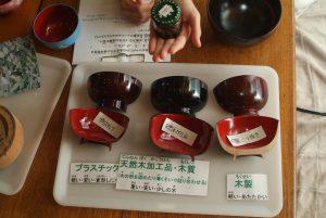 六月の小学生の食育・三回目は漆器の話、赤紫蘇ジュースとゆかりふりかけ♪