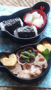 秋祭りの頃の小学生のための土曜日の学童弁当