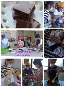 2月の子供料理教室は、バレンタイン♪